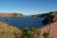 Ord River Dam and part of Lake Argyle