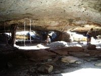Rock shelters containing paintings, Mt Borradaile