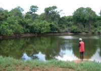 Our guide Eddie at a waterhole