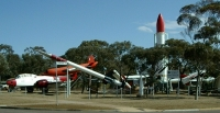 Rocketry display at Heritage Centre, Woomera