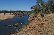 Fitzroy River near old graveyard