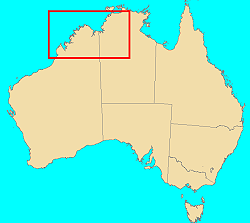 Australia showing region expanded in detailed map
