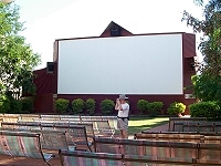 Openair section (including screen) at old Sun Pictures cinema
