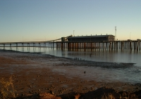 Low tide, Derby. Same view of bulk ore loading facility as at left