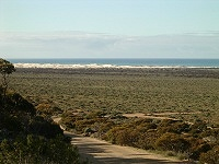 Road to old Eucla telegraph station