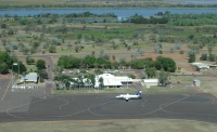 Kununurra Airport, with Lake Kununurra in background